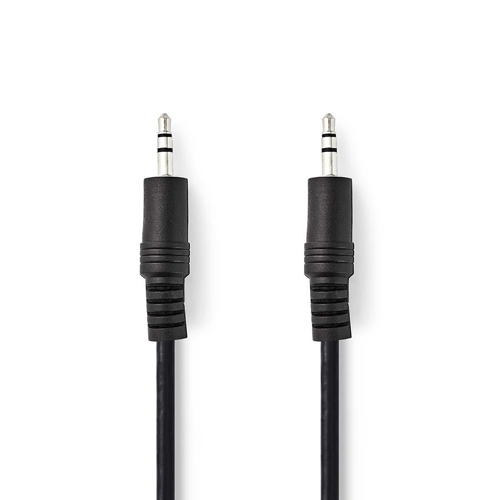 Audio cable 1x Jack 3.5mm male/1x Jack 3.5mm male 3m NEDIS CAGB22000BK30 black