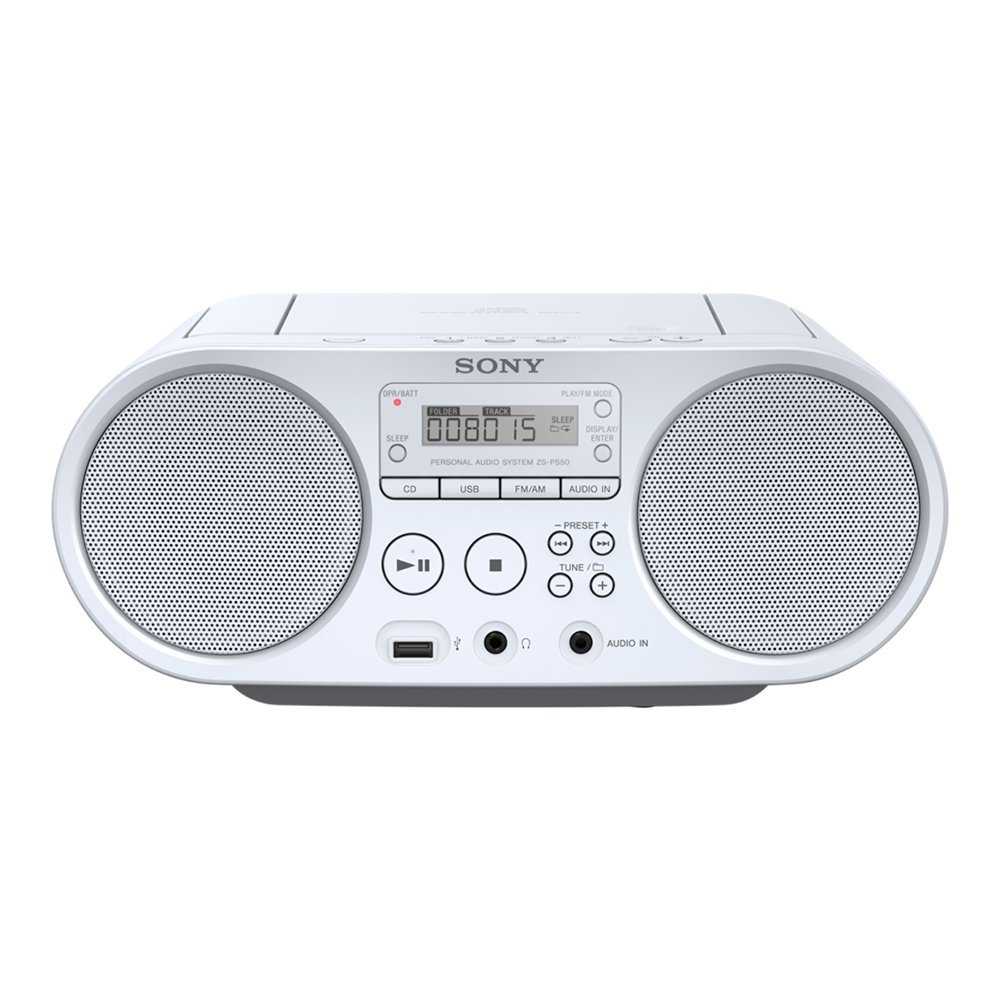 Portable radio/CD player SONY Boombox ZS-PS50 white