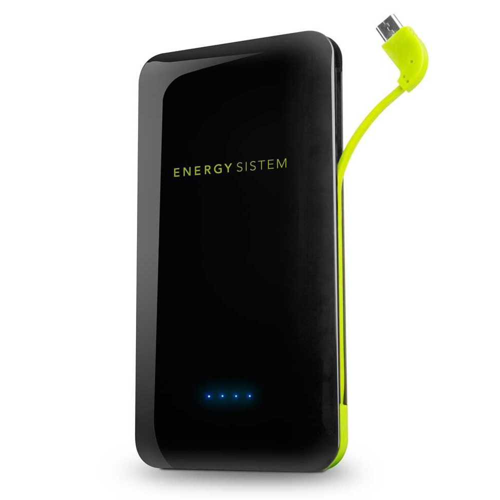 Power Bank 10000mAh w/built-in MicroUSB cable ENERGY SISTEM black