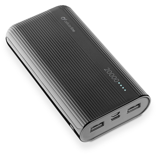 Power bank 20000mAh CELLULAR PowerTank FREEPPT20USBCK black