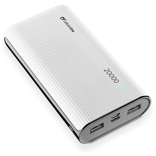 Power bank 20000mAh CELLULAR PowerTank FREEPPT20USBCW white