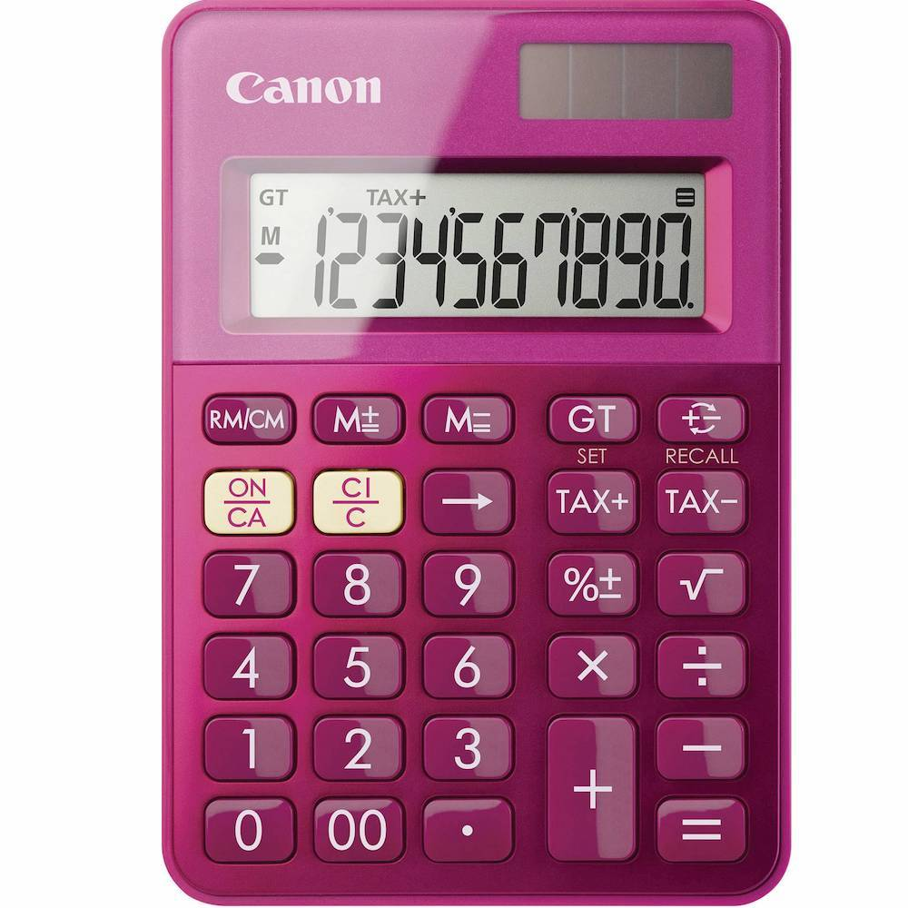 Calculator CANON LS-100KM pink