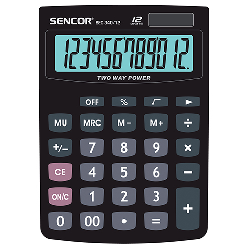 Calculator SENCOR SEC 340/12 black