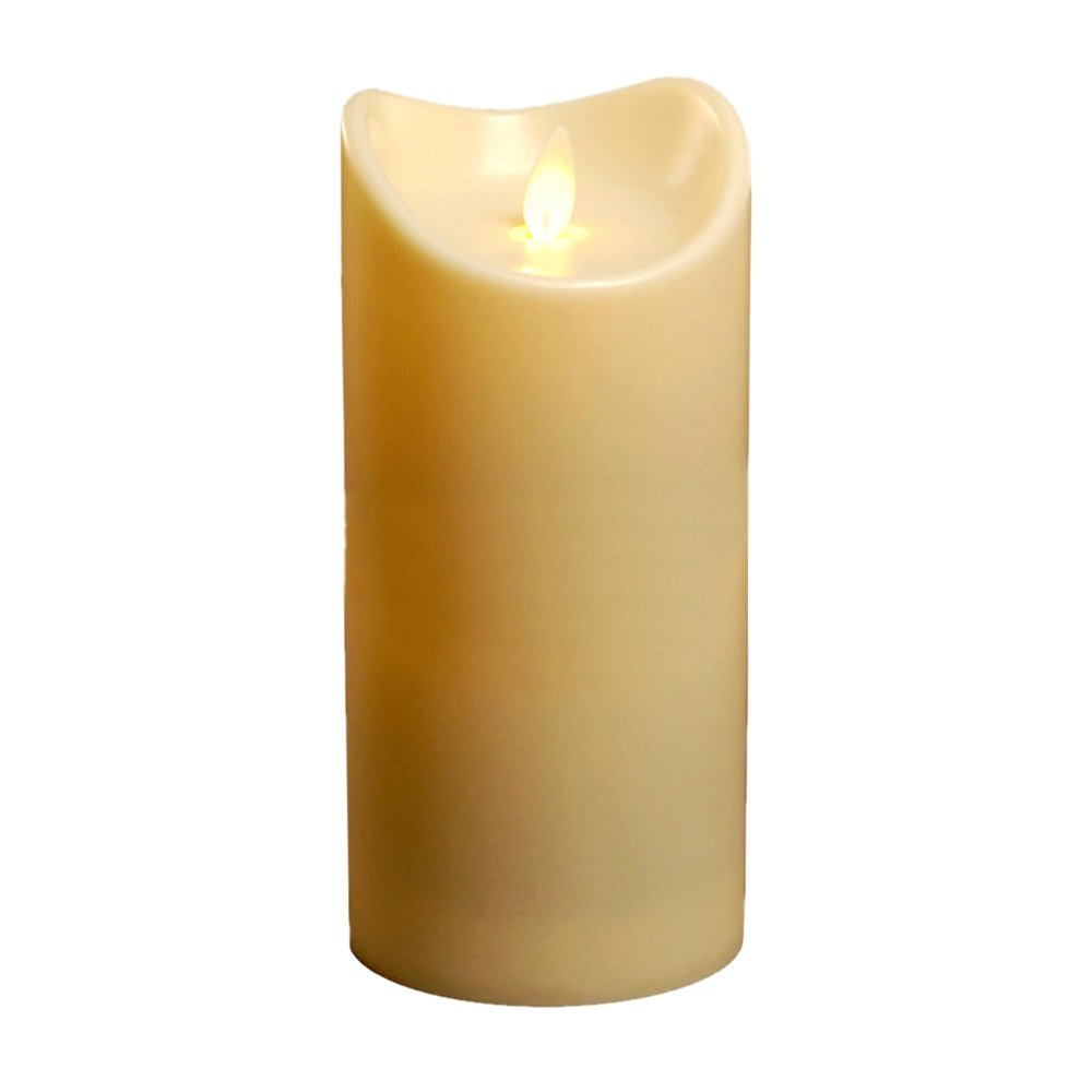 Pre-Lit Candle LED Battery Moving Flame ivory 43-730MDSIR-23