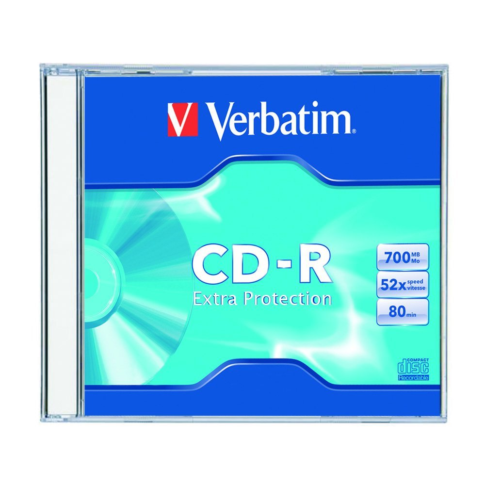 CD recordable VERBATIM 80min 52x SLIM DATALIFE