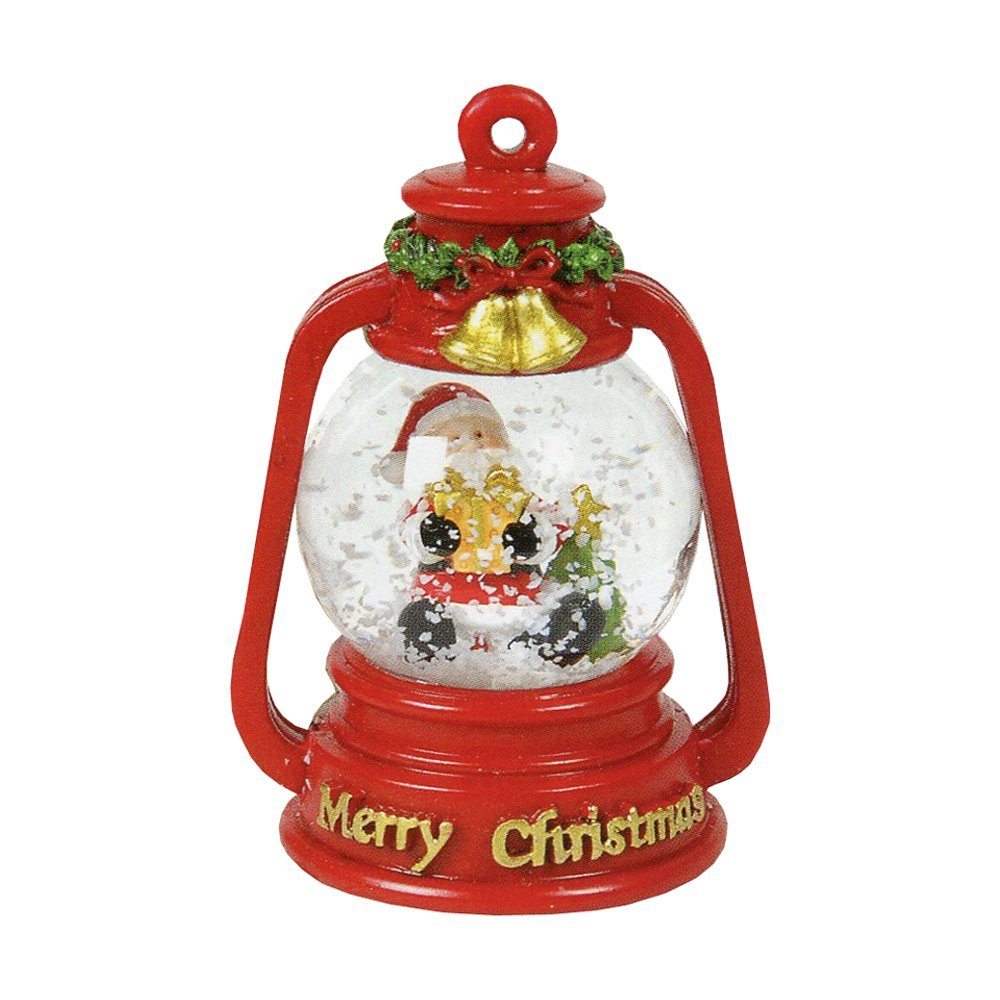 Christmas Snow Globe Santa 155192 red