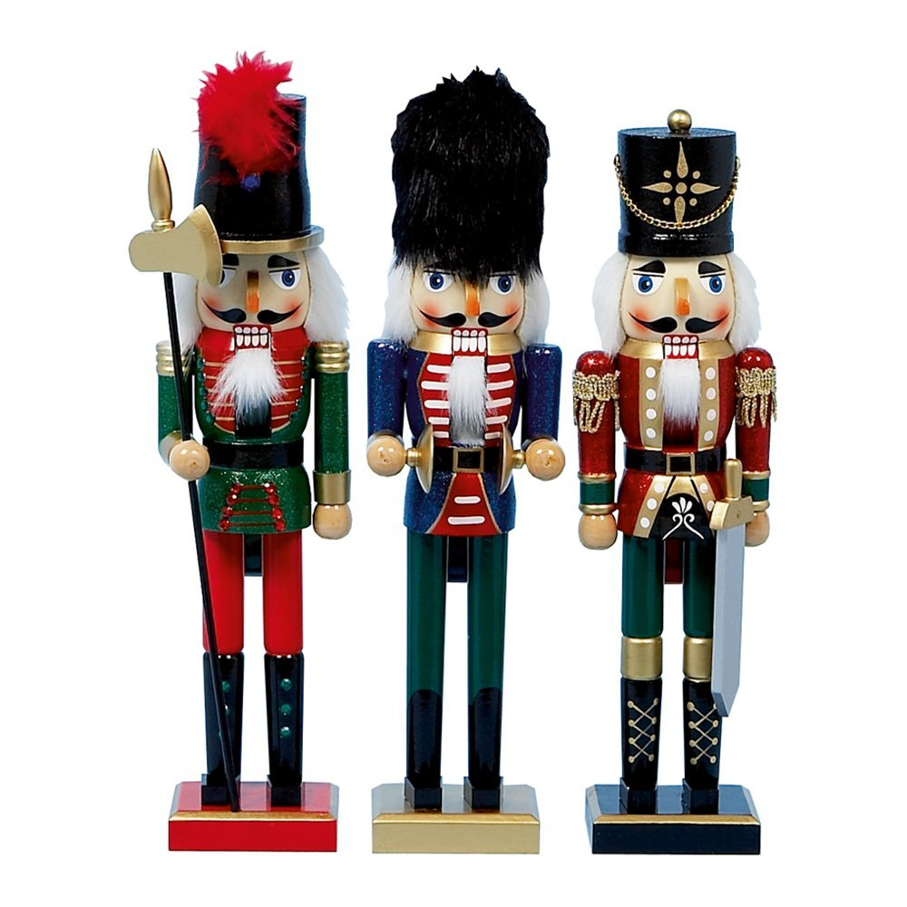 Christmas Decoration Nutcracker 38cm red/blue/green AC101550