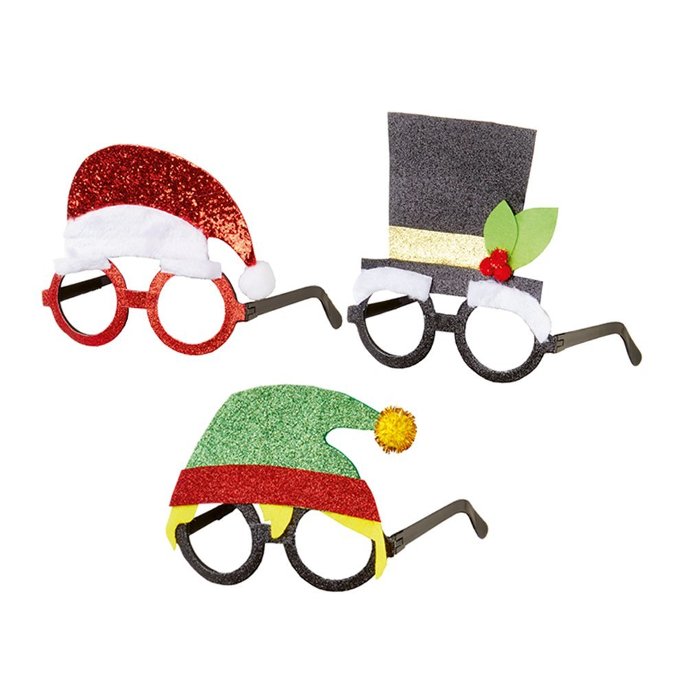 Christmas Glasses Santa/Hat/Elf AC185144