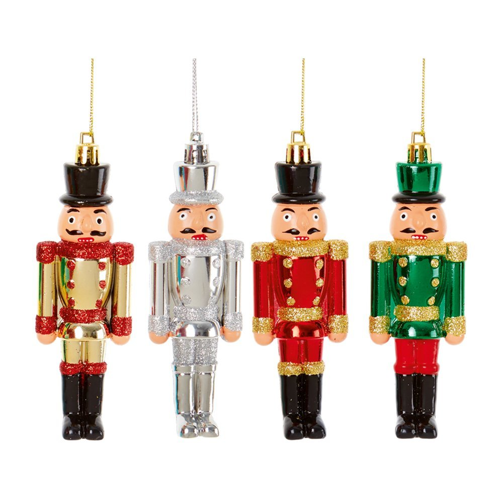 Christmas Hanging Ornament Nutcracker gold/silver/red/greenTD185713