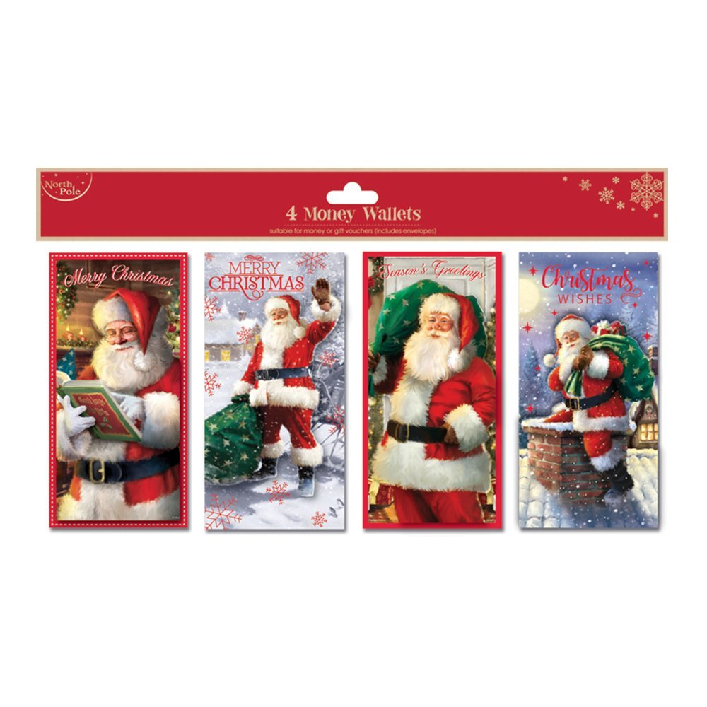 Christmas Card Money Wallet (Set of 4pcs) X23631-MW