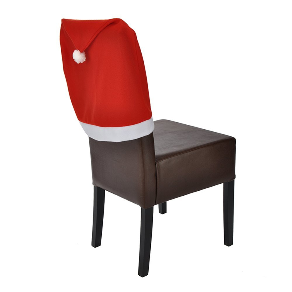 Christmas Chair Cover Santa Hat 54164 red/white