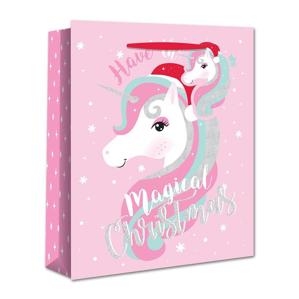 Christmas Bag Unicorn L X-25110-2