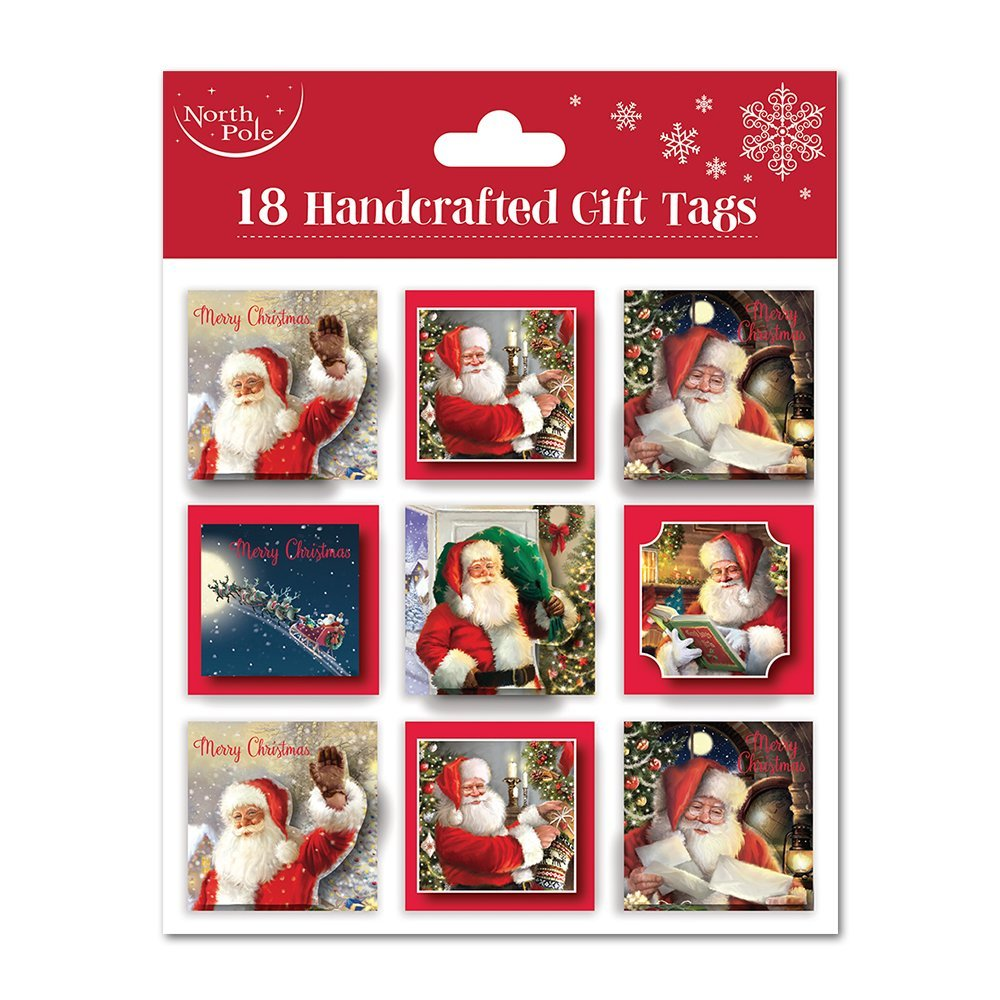 Christmas Gift Tag Santa (Set of 18pcs) X-25737-GT