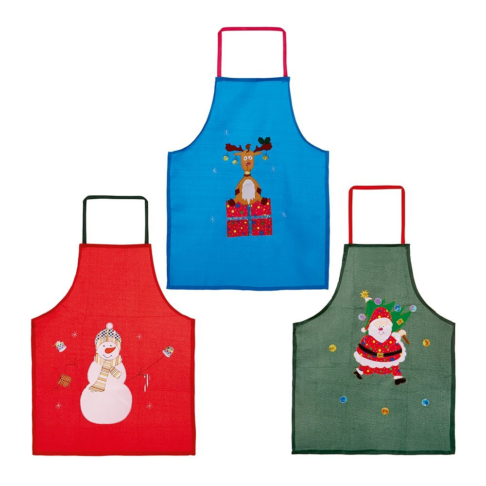 Christmas Apron AC067050 red/green/blue