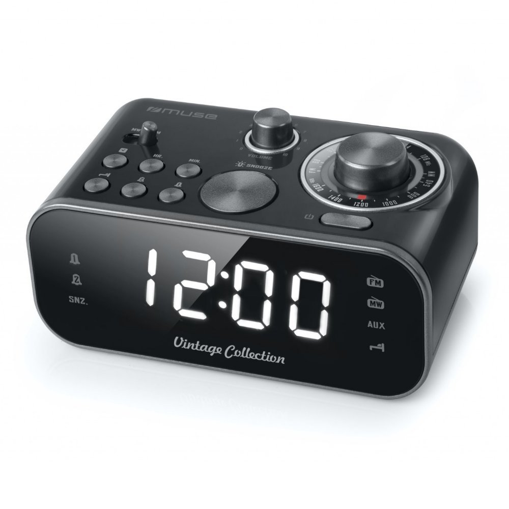 Alarm radio clock MUSE M-18CRB black