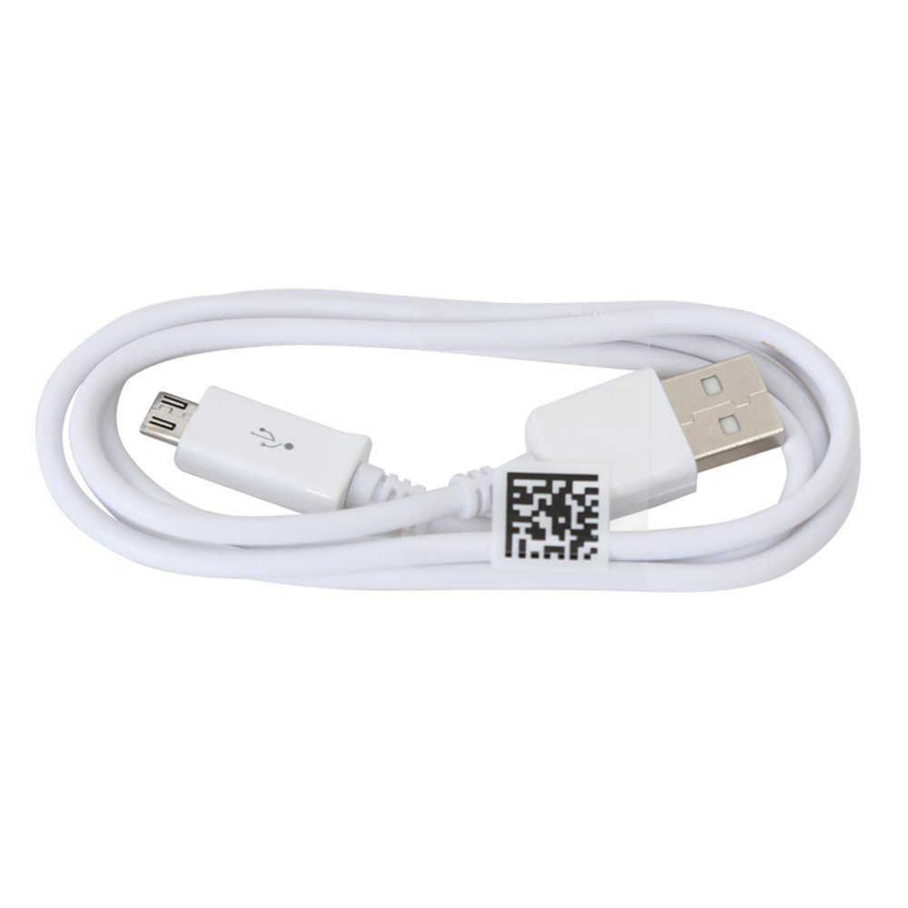 Cable USB male/microUSB male 1M OMEGA OUCWH white