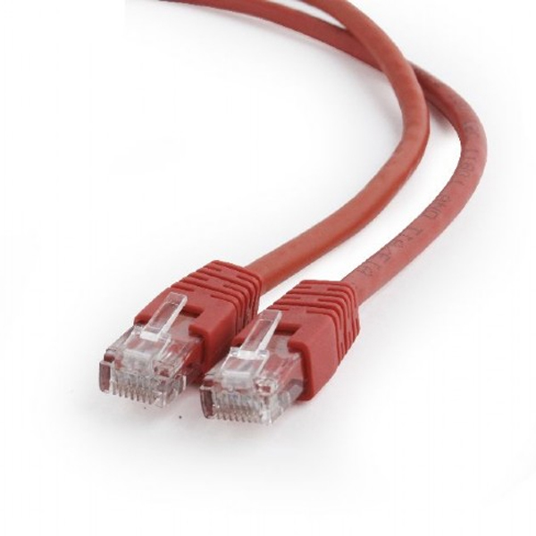 Patchcord UTP CAT6 male/male 0.25m GEMBIRD PP6U-0.25M/R red