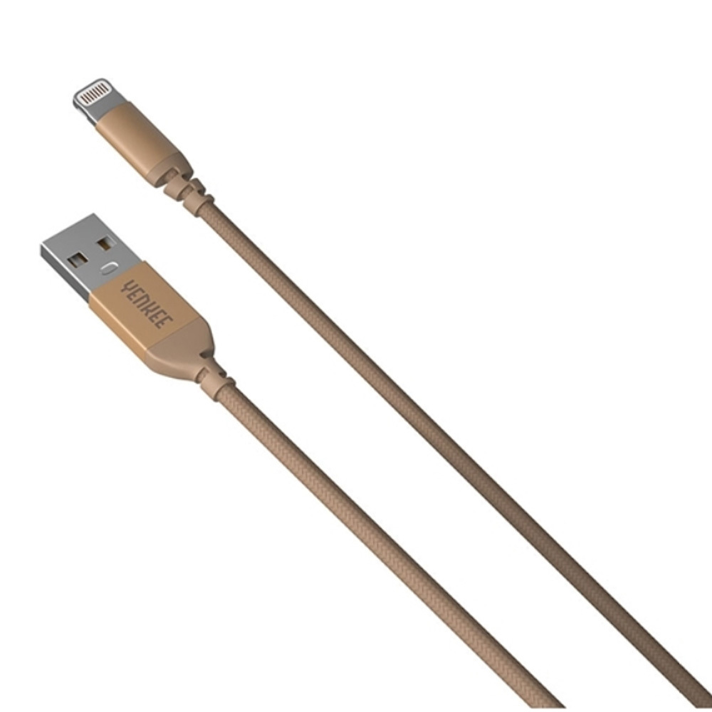 Cable USB-A male/Apple Lightning male 2.0 1m YENKEE YCU 611 GD gold