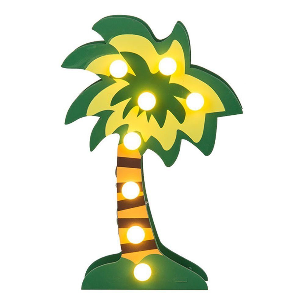 Battery Deco Light 8 LED Warmwhite Palm Tree 220368