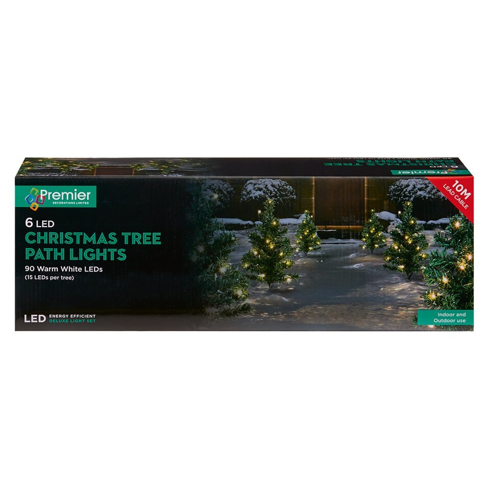 Pre-Lit Christmas Tree Plug-in (Set of 6pcs) LED Warmwhite green LV168417