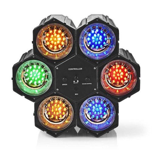 Disco Lights NEDIS FUDI211BK6 black