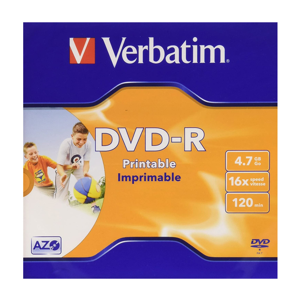 DVD-R 4.7GB 16x VERBATIM 43521 PRINTABLE
