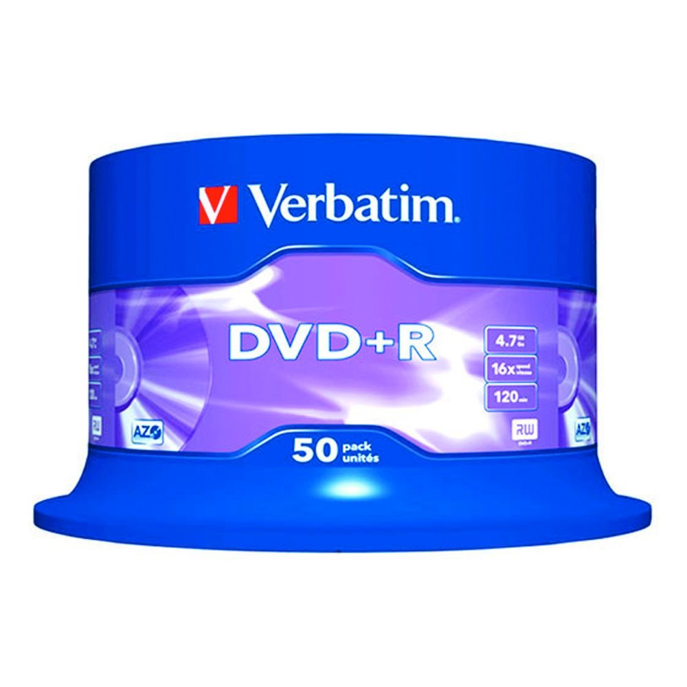DVD+R 4.7GB 16x VERBATIM 50pcs AZO C/BOX 43550