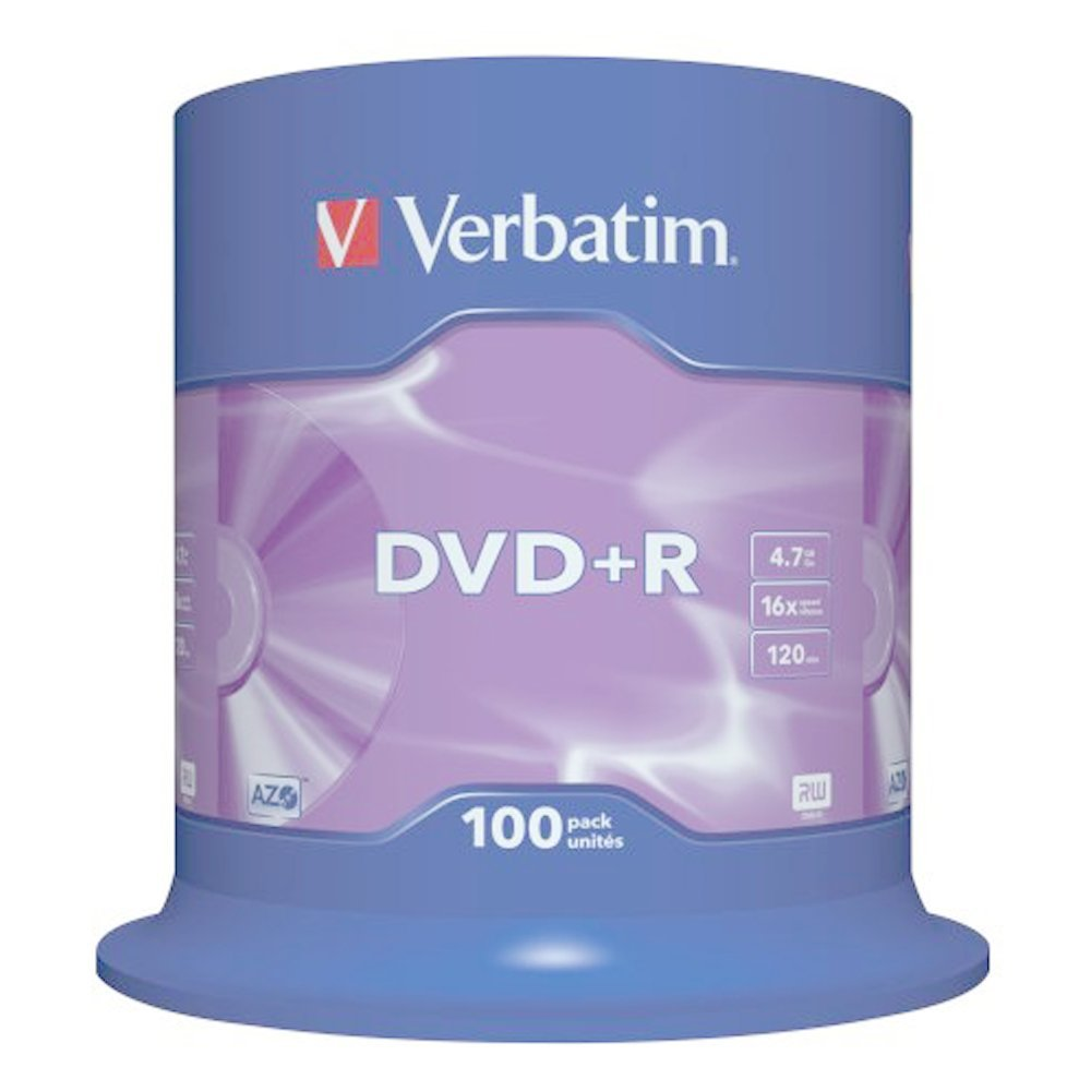 DVD+R 4.7GB 16x VERBATIM 100pcs C/BOX 43551