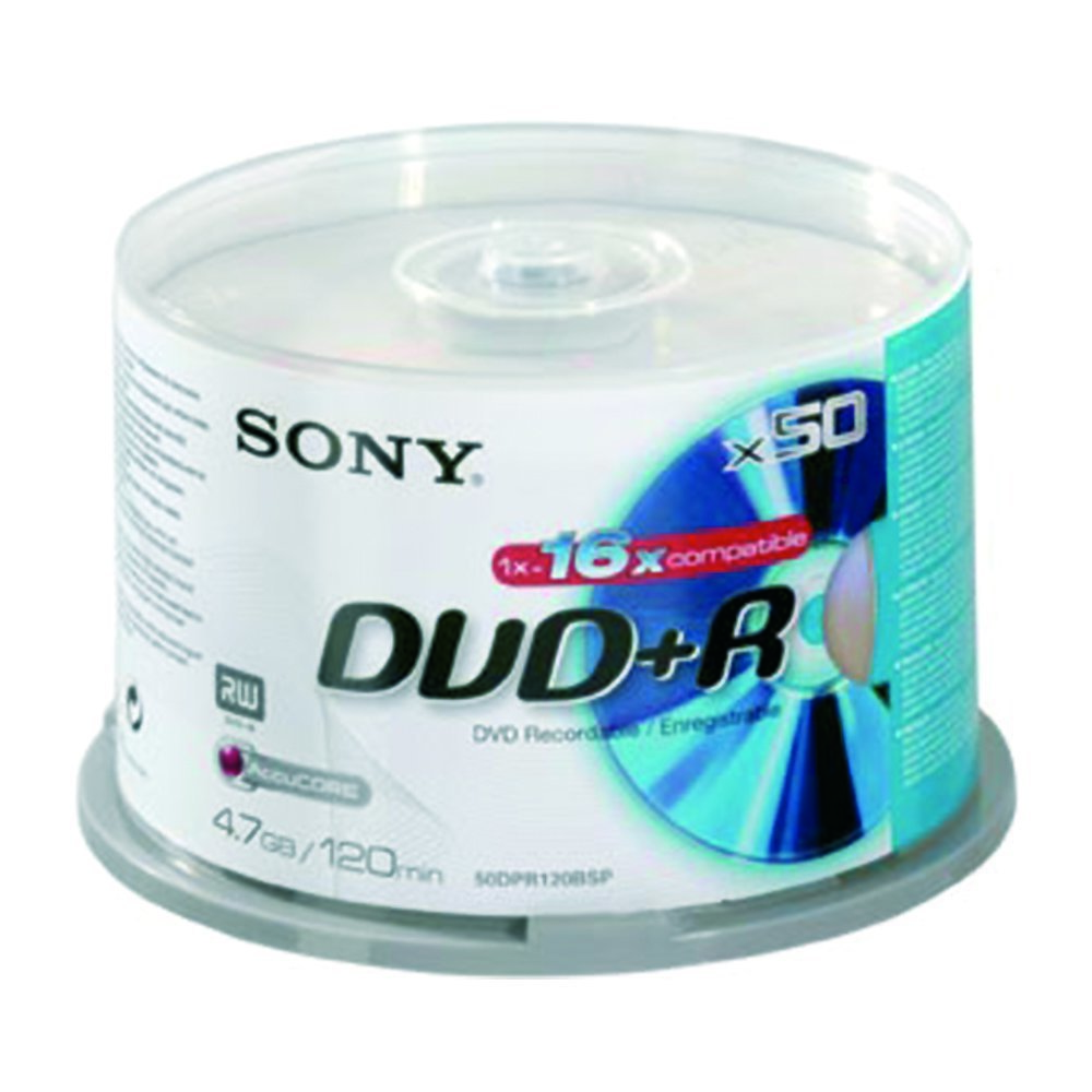 DVD+R 4.7GB 16x SONY 50pcs C/BOX 50DPR120BSP
