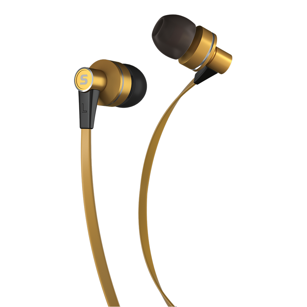 Earphones with microphone SENCOR SEP 300 gold