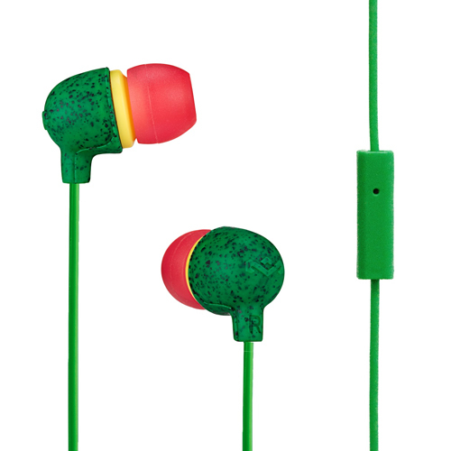 Earphones with microphone MARLEY Little Bird EM-JE061-RA rasta