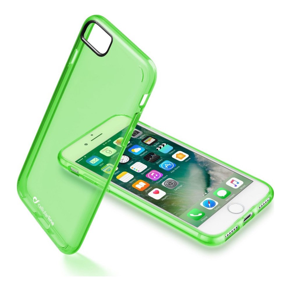 Case for iPhone 7/8 CELLULARLINE Clear Color CLEARCOLIPH747G green
