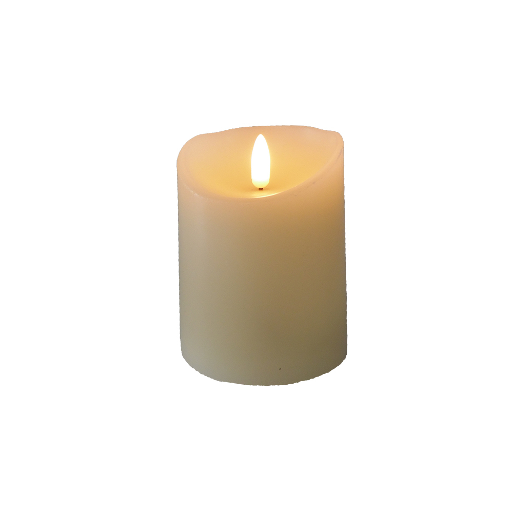 Battery Candle LED Warmwhite D7.5 x H10cm 1804A02 ivory/white